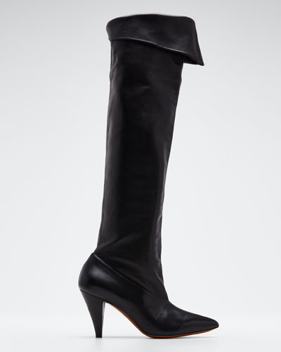 Fold-Down Over-The-Knee Boots