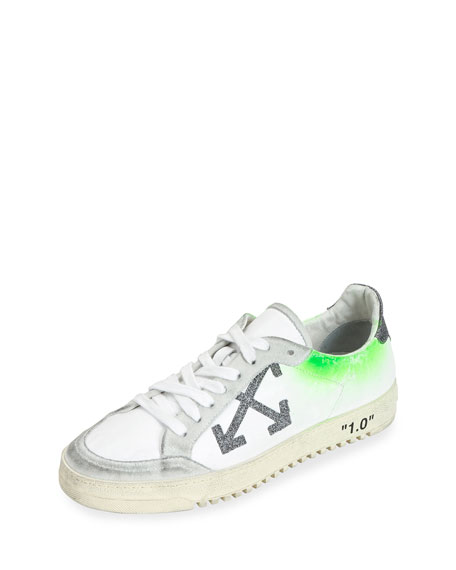 Arrow 2 Glittered Leather Low-Top Sneakers