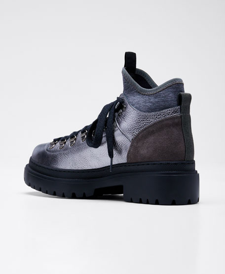 Urban Soft Suede/Metallic Leather Hiking Boots