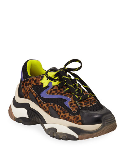 Addict Colorblock Leopard Sneakers