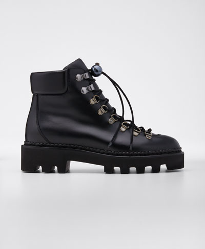 Delfi Leather Hiking Booties