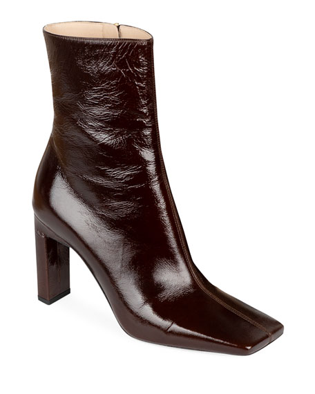 Isa Side Zip Leather Booties