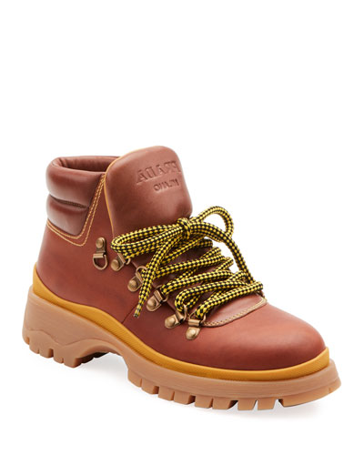 Lug-Sole Lace-Up Hiker Boots