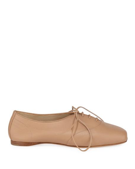 Maya Snakeskin Oxford Loafers, Beige