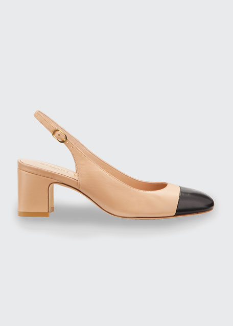 Loraina Two Tone Slingback Pumps by Stuart Weitzman