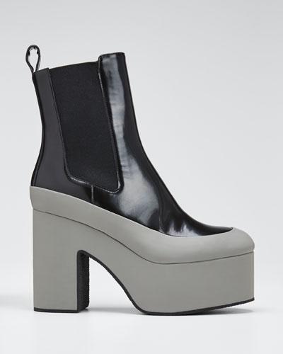 Chunky Platform Patent Boots