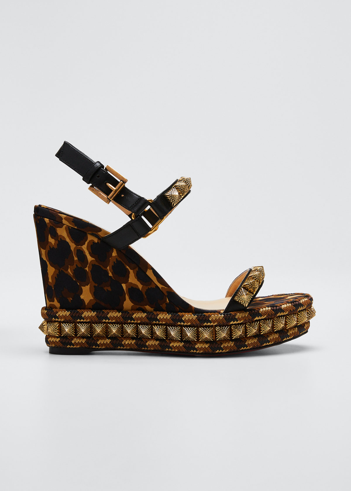 Christian Louboutin Shoes PIRA RYAD LEOPARD RED SOLE ESPADRILLES