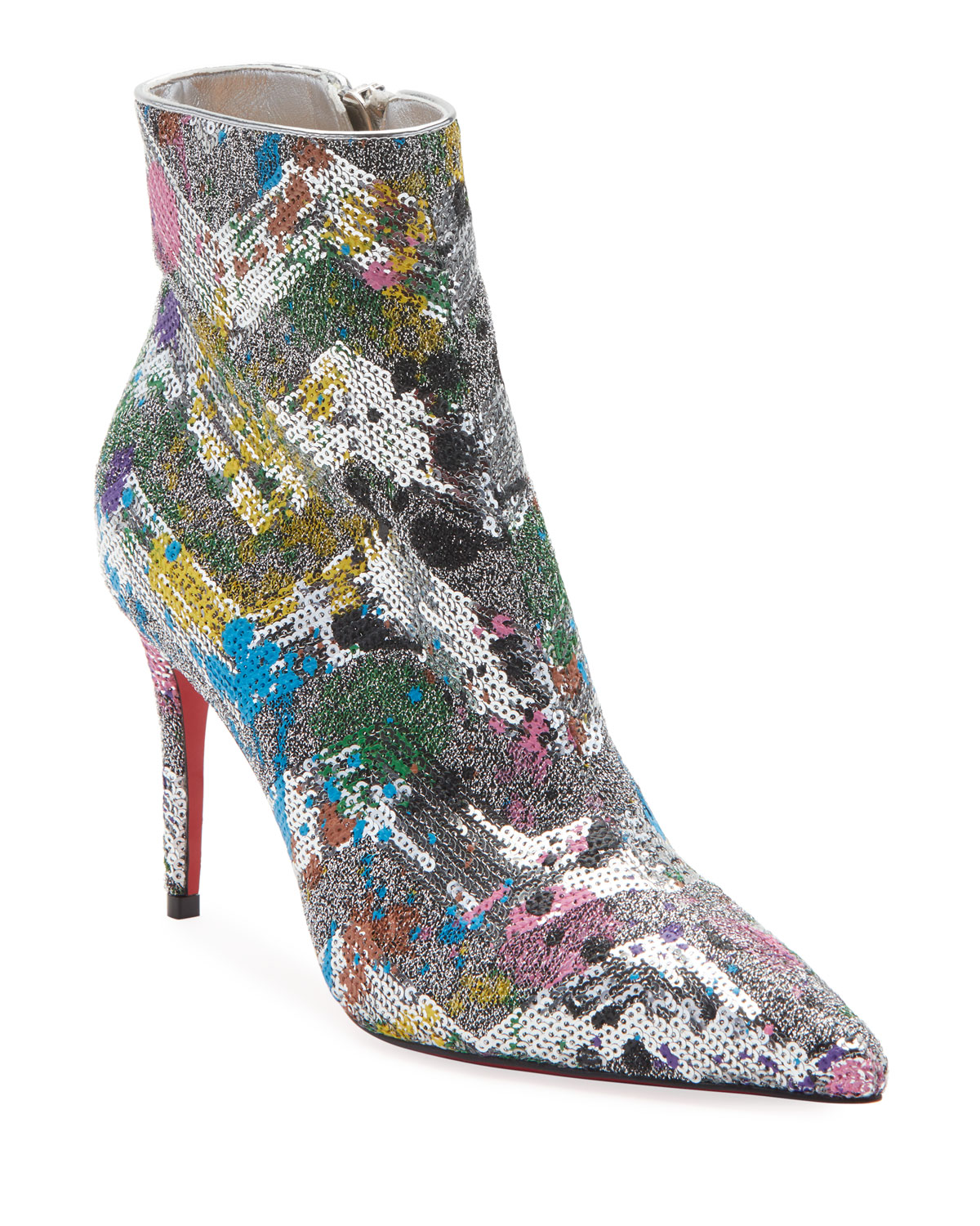 Christian Louboutin Boots SO KATE GLITTER RED SOLE BOOTIES