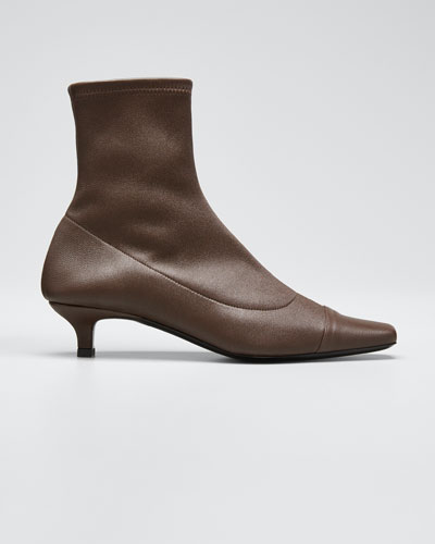 Karl Stretch Leather Booties