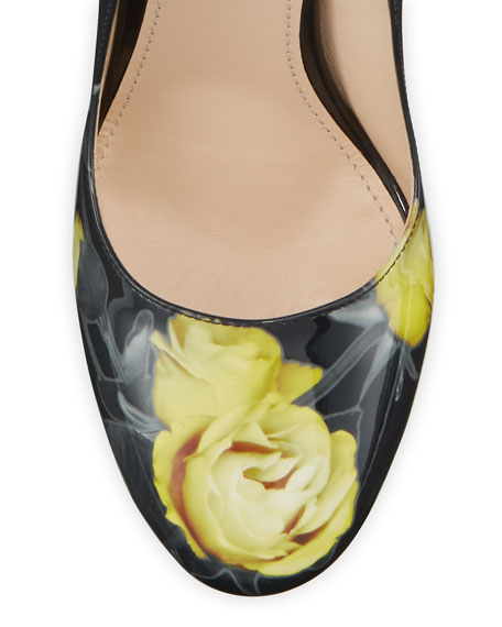 Vernice St. Beauty Roses Pumps
