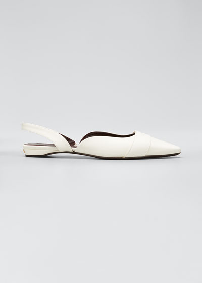 Leather Slingback Ballerina Flats