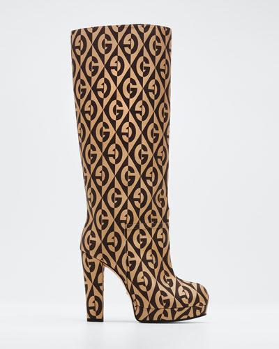Knee-High G Platform Boots