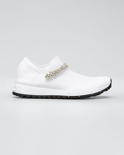 Verona Knit Chunky Sneakers w/ Crystal Strap