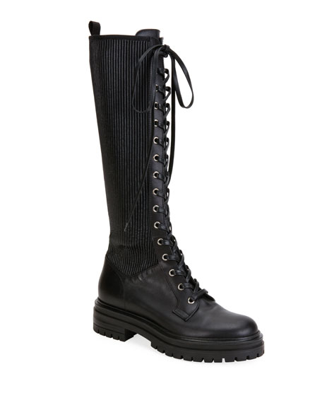 Lace Up Combat Knee Boots by Gianvito Rossi