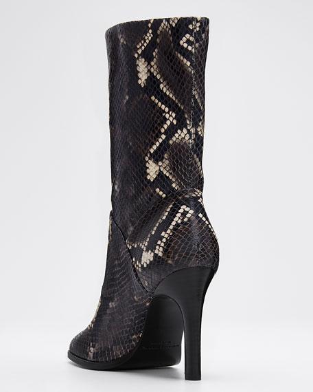 Kiona Snake-Print Ankle Boots