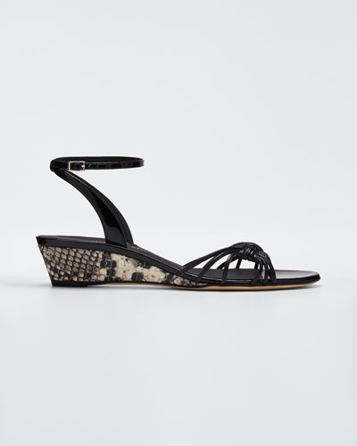 30mm Ricoperto Snake Wedge Sandals