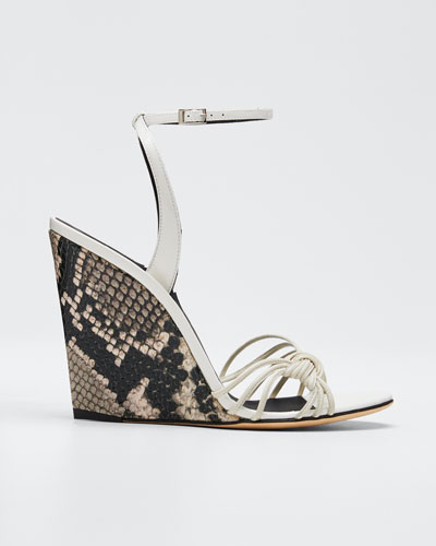 105mm Ricoperto Snake-Wedge Sandals