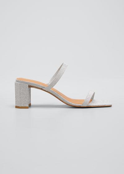 Tanya Glitter Leather Sandals