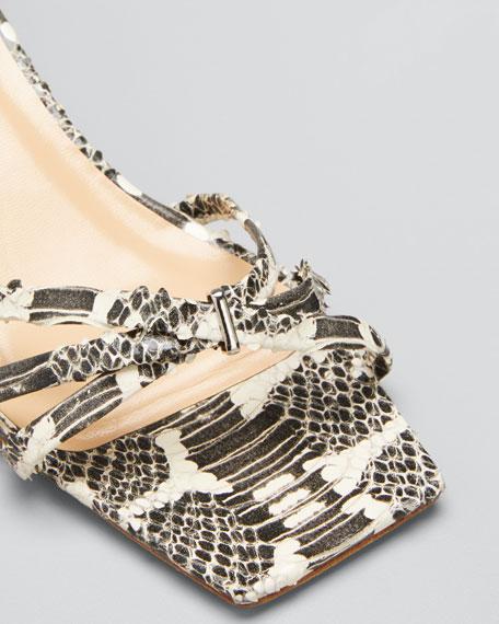 Kaia Snake-Print Sandals