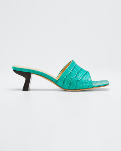 Lily Croco-Embossed Sandals