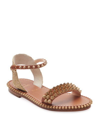 Cordorella Spike Flat Red Sole Sandals