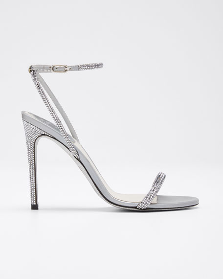 Crystal Cocktail Ankle-Strap Sandals