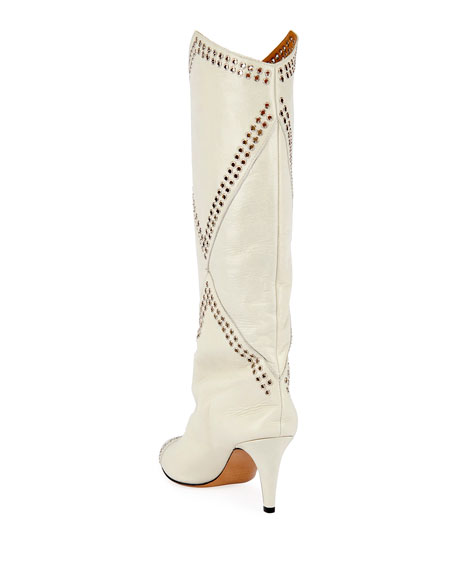 Lahia Leather Grommet Boots