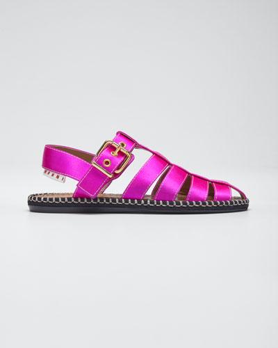 Satin Caged Espadrille Sandals