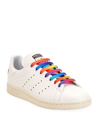 Stan Smith Sneakers with Rainbow Laces