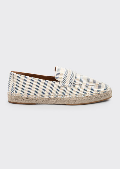 Striped Tweed Espadrille Loafers
