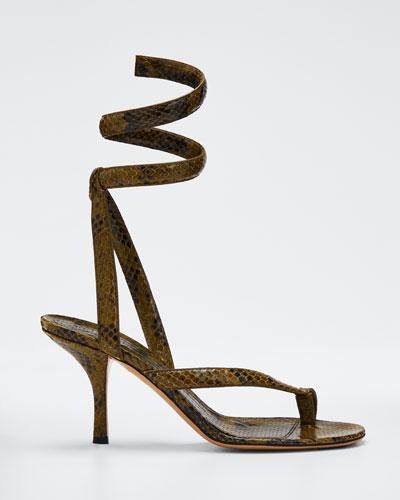 Python-Print Coil Sandals