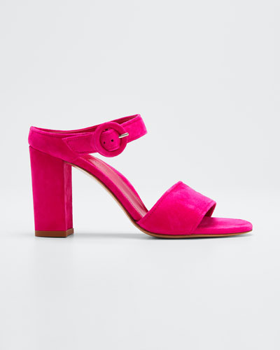 Lora Suede Slide Sandals