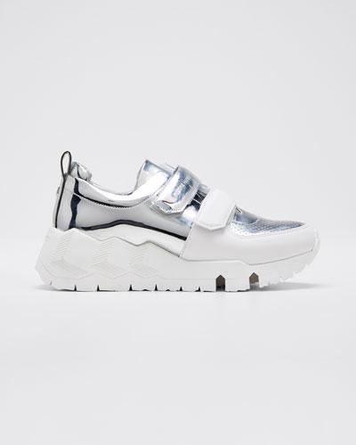 Trek Com Mirrored Metallic Sneakers