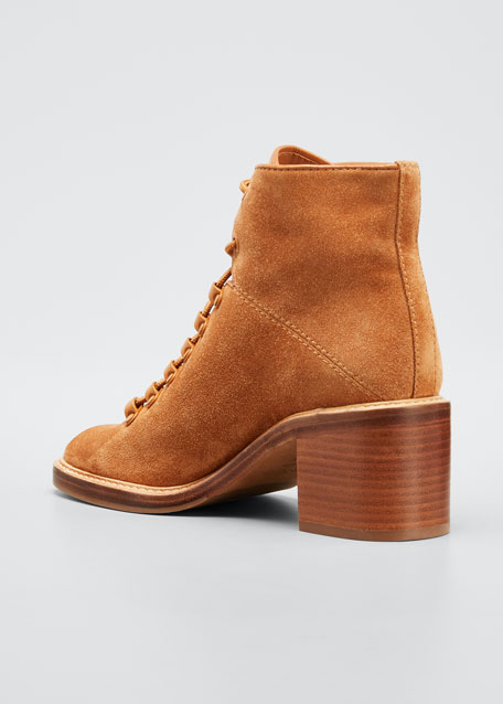 Falco Two-Tone Suede Combat Booties