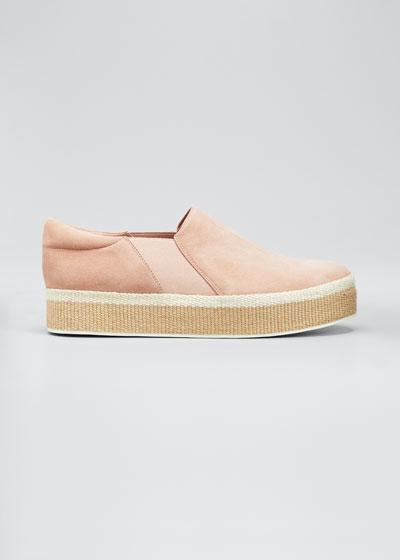 Wilden Flatform Suede Espadrille Sneakers