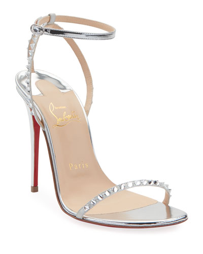 So You Strappy Spike Red Sole Sandals