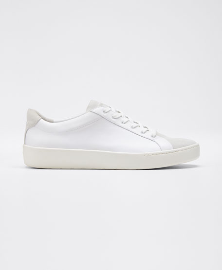 Janna Mixed Leather Low-Top Sneakers