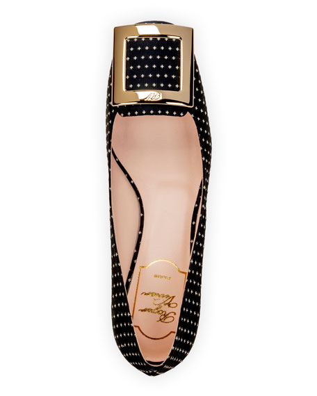 Tres Vivier 45mm Star Dot Buckle Pump