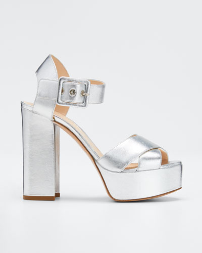 Essential Platform Metallic Sandals