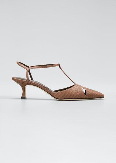 Taurus Snakeskin 50mm Sandal