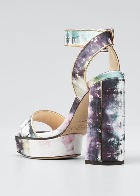 Jax Tie Dye Platform Sandals