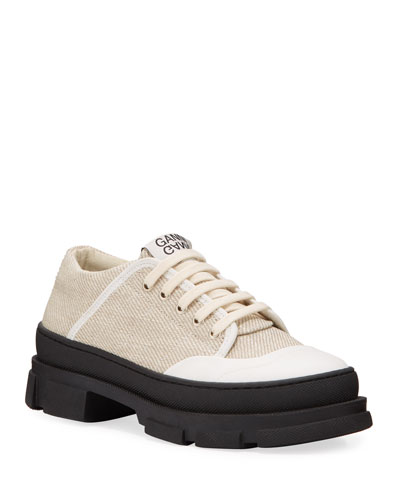 Hybrid Canvas Lace-Up Sneakers