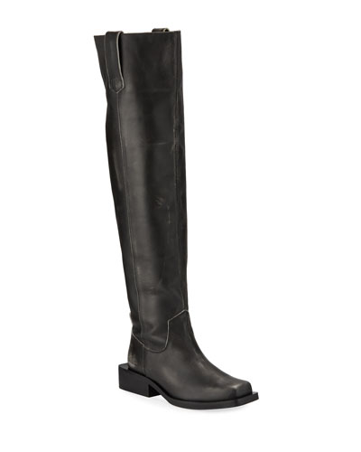 MC Leather Knee-High Boots