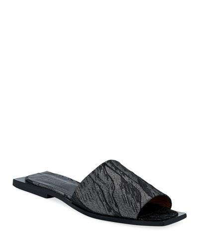 Fabric Slide Flat Sandals