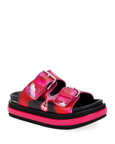Floral-Print Chunky Sport Sandals