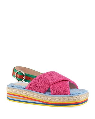 Huma 50mm Sponge Wedge Sandals