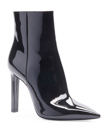 Kate Zip Patent Booties by Saint Laurent