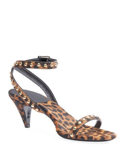 Kiki Leopard Studded Sandals