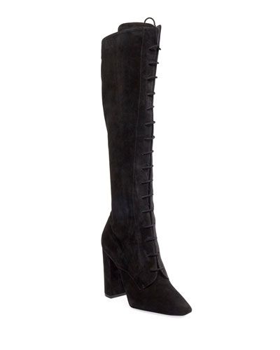 Laura Lace-Up Over-The-Knee Boots