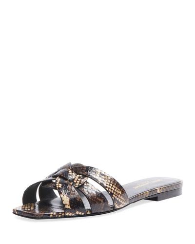 Tribute Flat Snake Slide Sandals